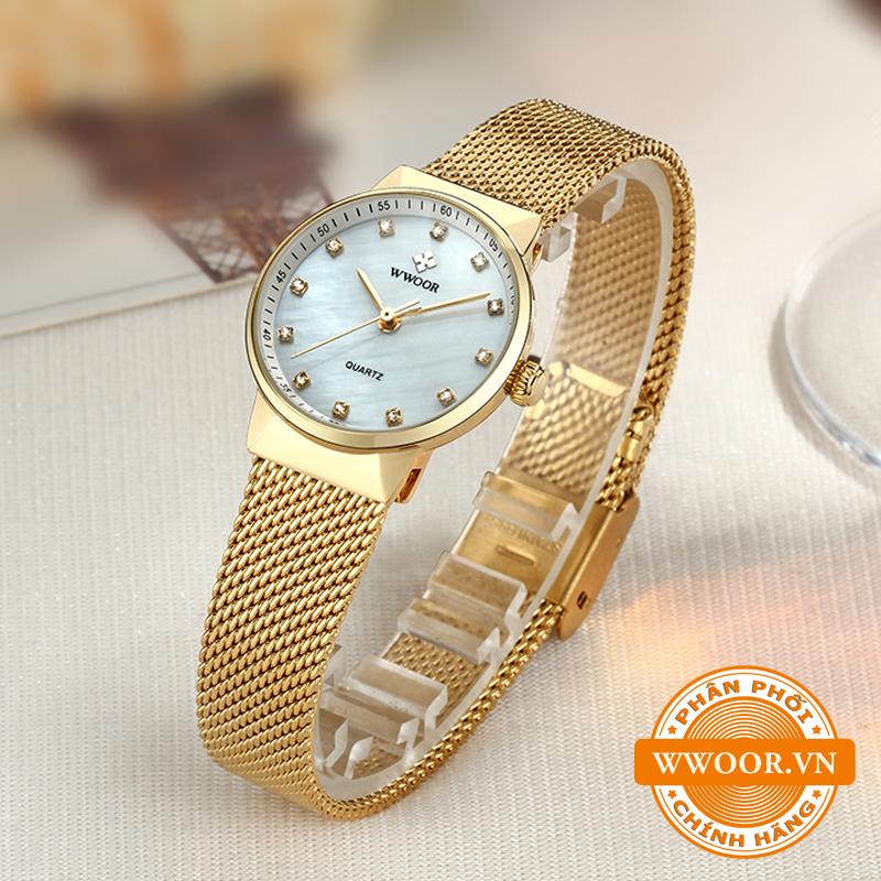 Đồng hồ thời trang nữ WWOOR 8025, chính hãng 1
