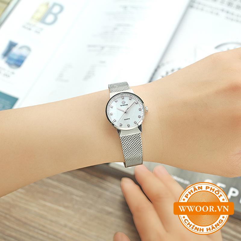 Đồng hồ thời trang nữ WWOOR 8025, chính hãng 9
