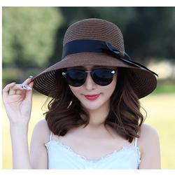 mũ đi biển cao cấp, nón cói thắt nơ thời trang, nón đi biển đẹp