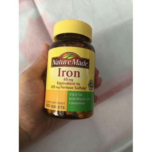 Viên uống bổ sung sắt Nature Made Iron - Chai 360v