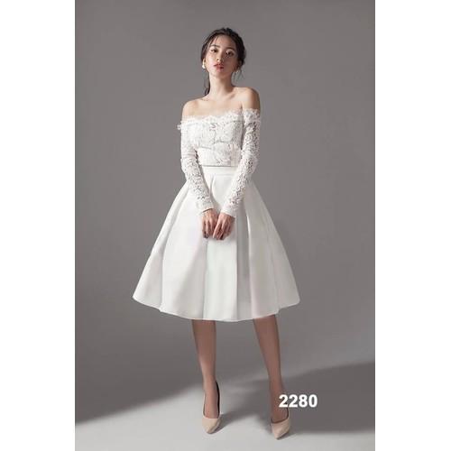 Đầm xòe trắng phối ren tay dài 2280 - 5753649 , 9753230 , 15_9753230 , 519000 , Dam-xoe-trang-phoi-ren-tay-dai-2280-15_9753230 , sendo.vn , Đầm xòe trắng phối ren tay dài 2280