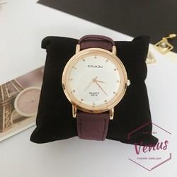 Đồng hồ nữ phụ kiện thời trang dây da xinh xắn DH-002