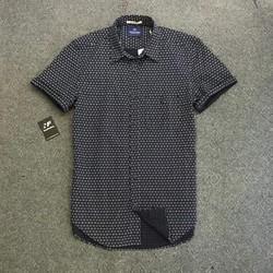 áo sơ mi họa tiết nam ngắn tay hàng hiệu xuất khẩu