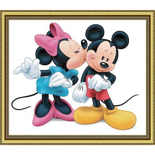 Tranh dán tường 3D VTC Chuột Mickey LunaTE-0015K 150 x 130 cm