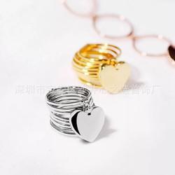 nhẫn vòng 2 trong 1 vừa là nhẫn vừa là vòng bạc 925 cao cấp mặt tim