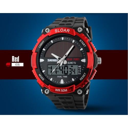 Đồng hồ nam Skmei 1049 dây silicon - Đỏ