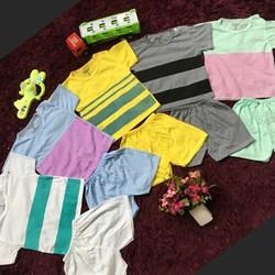 set 5 bộ quần áo trẻ em kẻ ngang các mầu