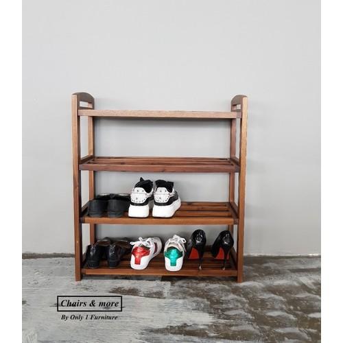 Kệ giày gỗ tự nhiên 4 tầng