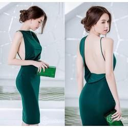 Đầm Ngọc Trinh Ôm Body Kiểu Hở Lưng Sexy Quyến Rũ