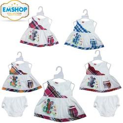 Set 4 Đầm Kate túi cho bé gái từ 4-12kg kèm quần chip - 4 màu
