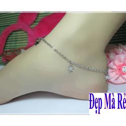 Lắc chân inox Đẹp Mà Rẻ kiểu ngôi sao Trắng