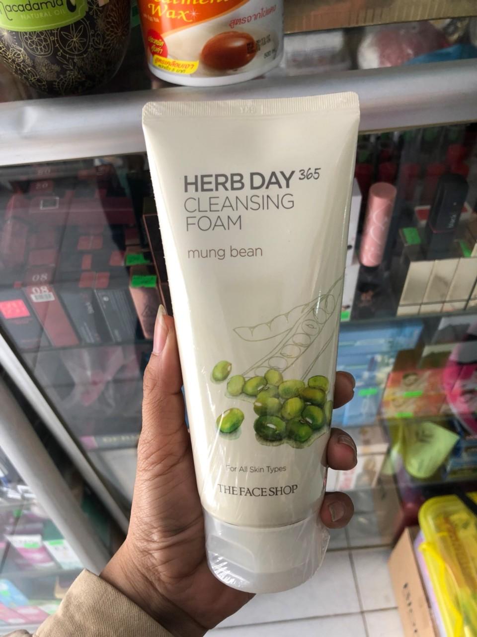 herb day 365 cleansing foam aloe đẹp, chính hãng chất lượng, giá rẻ hấp