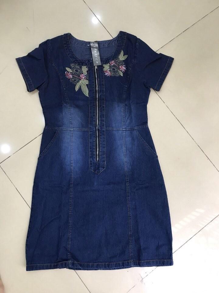 Đầm Jean Phối Hoa MS0766 2