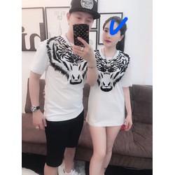 Áo thun cặp nam nữ in hoạ tiết cực ngầu, áo đôi đẹp