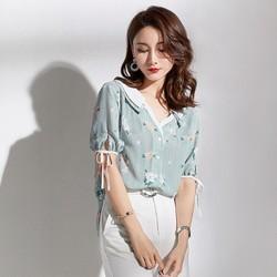 A88137 - Áo chiffon nữ kiểu Hàn Quốc - giá 580k