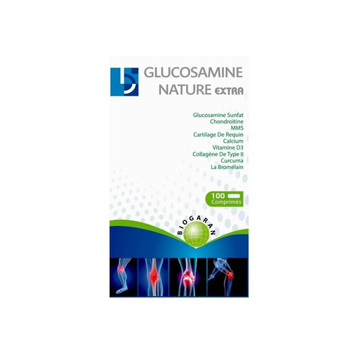 Glucosamine Nature Extra 4300mg của Pháp - Hổ Trợ Xương Khớp