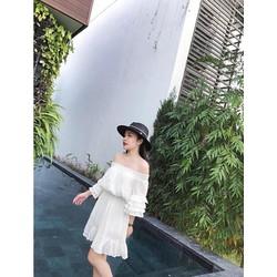 đầm bệt vai trắng