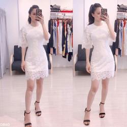 Đầm xòe ren cao cấp cực đẹp thời trang