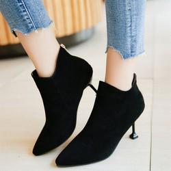 Giày boot da lộn cổ thấp