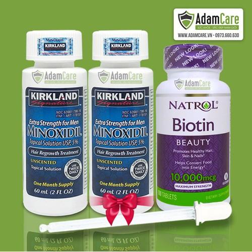 Thuốc mọc râu Minoxidil 5 Kirkland dạng lỏng combo 2 lọ và Biotin - 5781359 , 9798032 , 15_9798032 , 745000 , Thuoc-moc-rau-Minoxidil-5-Kirkland-dang-long-combo-2-lo-va-Biotin-15_9798032 , sendo.vn , Thuốc mọc râu Minoxidil 5 Kirkland dạng lỏng combo 2 lọ và Biotin