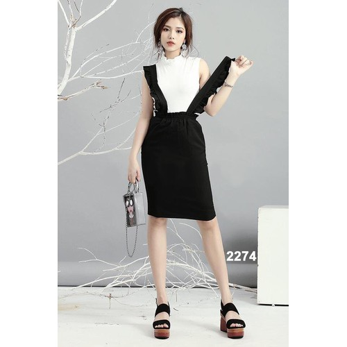 Bộ áo thun váy hai dây dạo phố 2274 - 5779935 , 9794863 , 15_9794863 , 419000 , Bo-ao-thun-vay-hai-day-dao-pho-2274-15_9794863 , sendo.vn , Bộ áo thun váy hai dây dạo phố 2274
