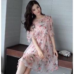 Đầm xoè hoa nổi fashion