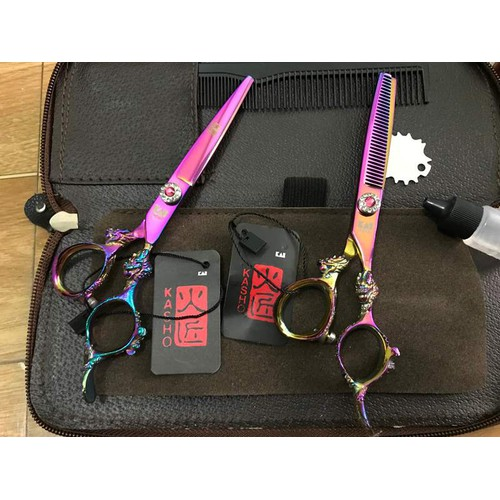 kéo cắt tóc rồng tím kasho - 5774733 , 9787551 , 15_9787551 , 680000 , keo-cat-toc-rong-tim-kasho-15_9787551 , sendo.vn , kéo cắt tóc rồng tím kasho