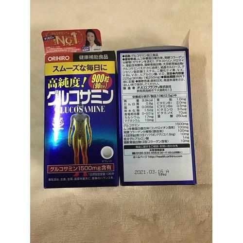 Viên uống xương khớp Glucosamine Orihiro 1500mg hộp 900viên của Nhật