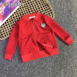 Quần áo trẻ em -Áo khoác trơn có logo cho bé 1-8 tuổi