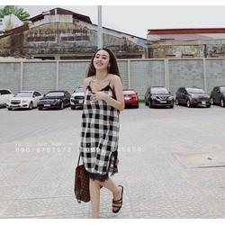 váy 2 dây pha ren cực đẹp
