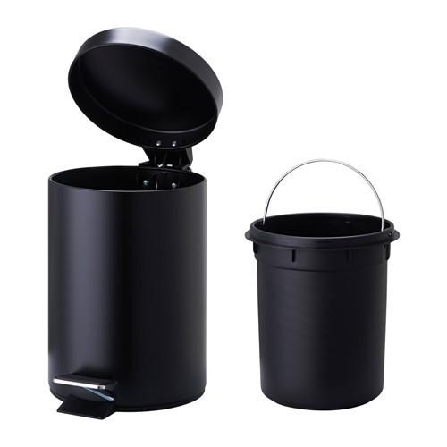 Thùng rác  ikea vorgod màu đen  thể tích 3 lít