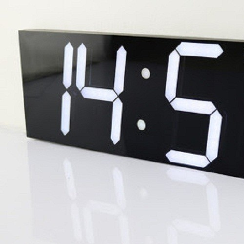 Đồng hồ treo tường led 3D - Full Black - Led White - Pro