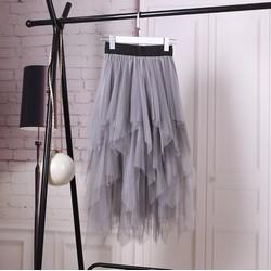 Chân váy xếp tầng Phong cách Hàn Quốc