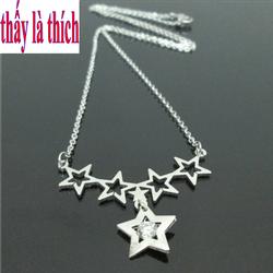 Dây chuyền nữ Thấy là thích 4 ngôi sao rỗng treo 1 ngôi sao lớn