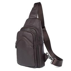 Túi Đeo Chéo iPad Da Bò SIP088 - màu Nâu và Đen