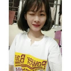 áo phông có 2 màu trắng và cam như hình