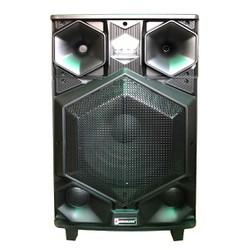 Loa kéo bluetooth DJ thùng gỗ Sunrise PT-15F 2018 - 4 tấc