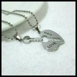 dây chuyền cặp trái tim chìa khóa