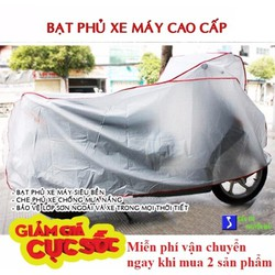 [ XẢ TOÀN BỘ KHO ] Combo 2 áo trùm xe máy - bạt trùm xe máy cao cấp chuyên dụng dành cho tất cả các loại xe