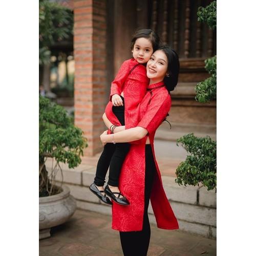 Set áo dài cách tân trung hoa Mẹ và BéVMB15