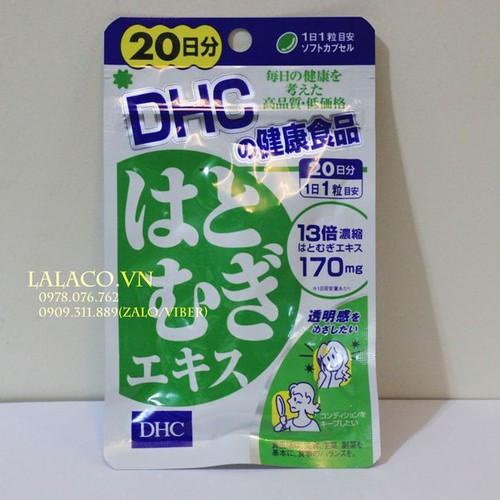 Viên uống trắng da Coix DHC Nhật Bản- 20 ngày