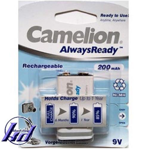 Pin sạc vuông 9V Camelion  AlwaysReady 200mAh - Vỉ 1 viên