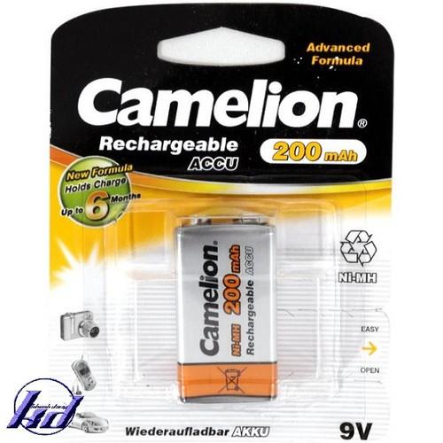 Pin sạc vuông 9V Camelion NH-9V200BP1 200mAh - Vỉ 1 viên