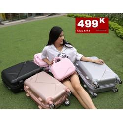 vali nhựa siêu đẹp mẫu mới không đụng hàng bền rẻ
