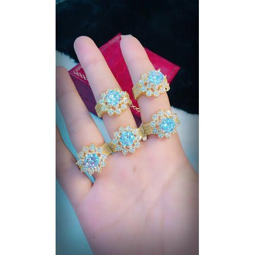 nhẫn nữ xoàn kiểu bông dát vàng 18k - 5783997 , 9801662 , 15_9801662 , 169000 , nhan-nu-xoan-kieu-bong-dat-vang-18k-15_9801662 , sendo.vn , nhẫn nữ xoàn kiểu bông dát vàng 18k
