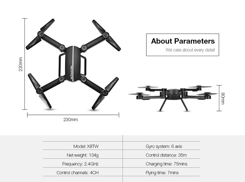 Máy bay điều khiển có cameraSkyhunter RC Quadcopter Drone flycam 5