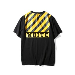 Áo Off White Yellow Lightning Twill Letters Tee