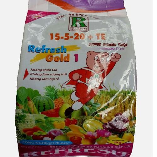 Phân bón gốc NPK phức hơp Refresh Gold 1 15 -5 - 20 + TE Công nghệ Đức - 5785582 , 9803854 , 15_9803854 , 64000 , Phan-bon-goc-NPK-phuc-hop-Refresh-Gold-1-15-5-20-TE-Cong-nghe-Duc-15_9803854 , sendo.vn , Phân bón gốc NPK phức hơp Refresh Gold 1 15 -5 - 20 + TE Công nghệ Đức