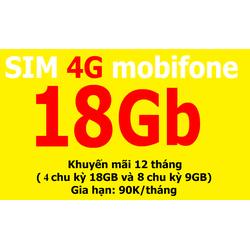 Sim 4G Mobi Fast Connect 18,4GB F90 giá rẻ nhất- Mua về chỉ việc dùng