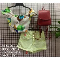 Set áo croptop+quần